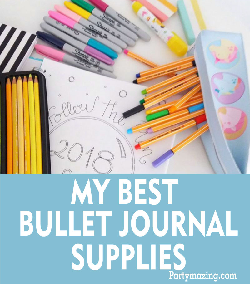 My best bullet journal supplies, since I started doing my bullet journal I understood that having everything on paper helps me to have less things in my head and have a more organized life! Check my favorite bujo planner supplies and some ideas of how keeping yours colorful and pretty! Bullet journal ideas by partymazing.Com #bujo #bulletjournal #printablejournal #journal #organization