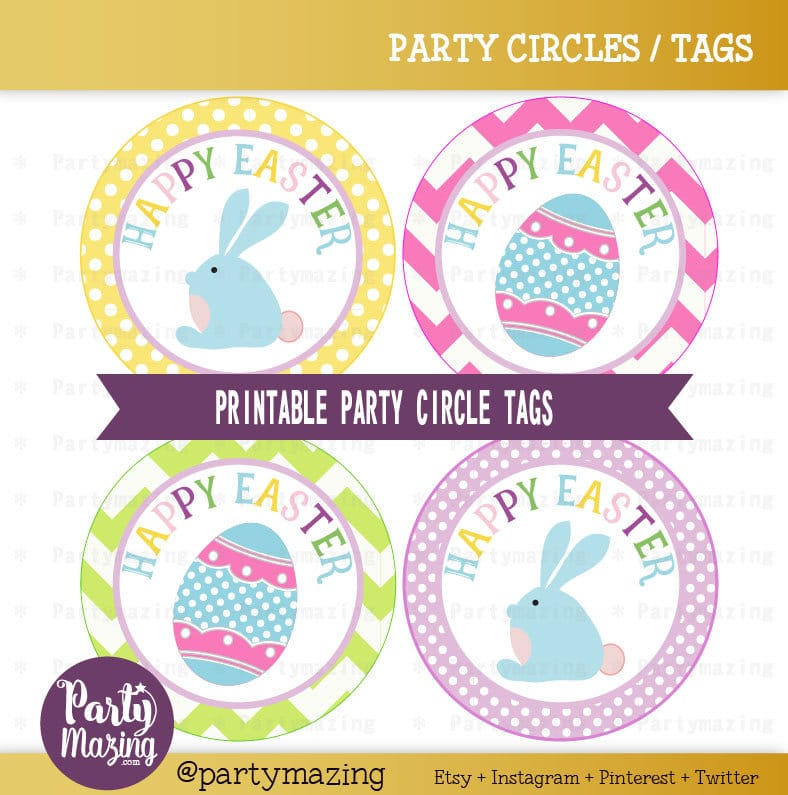 photograph regarding Avery Printable Tags called Easter Tags, Printable Stickers, Cupcake Toppers Get together