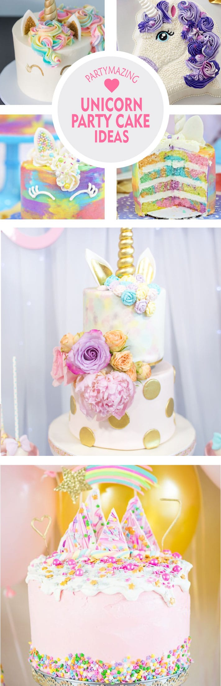 Admirable 12 Unicorn Party Cake Ideas Diy Cake Partymazing Funny Birthday Cards Online Aeocydamsfinfo