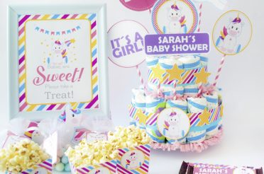 Magical Unicorn Baby Shower Party Set – Editable Printable Party Set By Partymazing