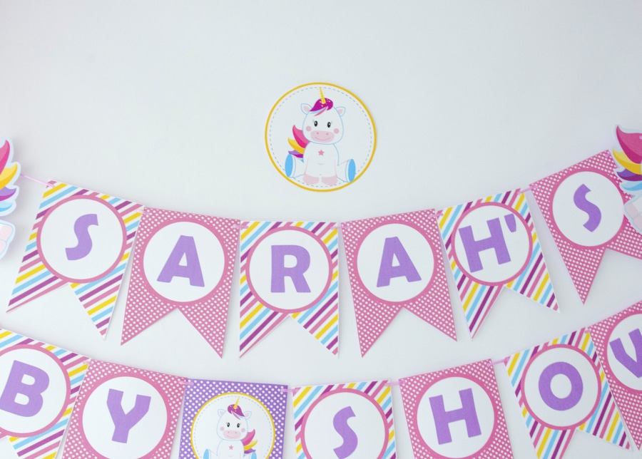 Printable Unicorn Baby Shower Banner