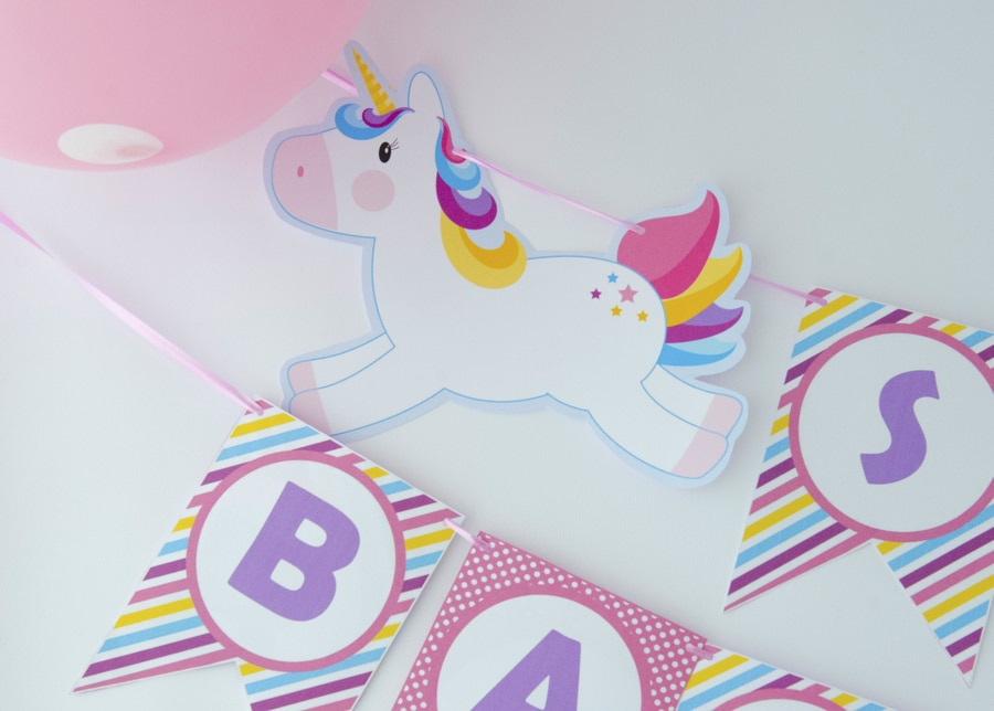Unicorn Baby shower Printable Banner