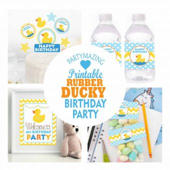 Rubber Ducky Printable Birthday Party Set