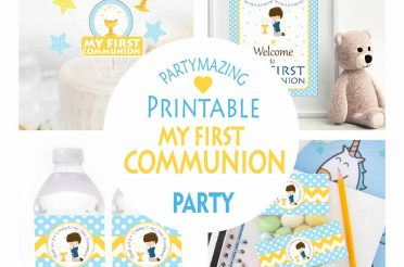 My First Communion Boy Printable Party Set