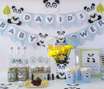 Panda Baby Shower Party Decor Ideas