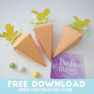 DIY Paper Carrot Boxes – Spring Craft