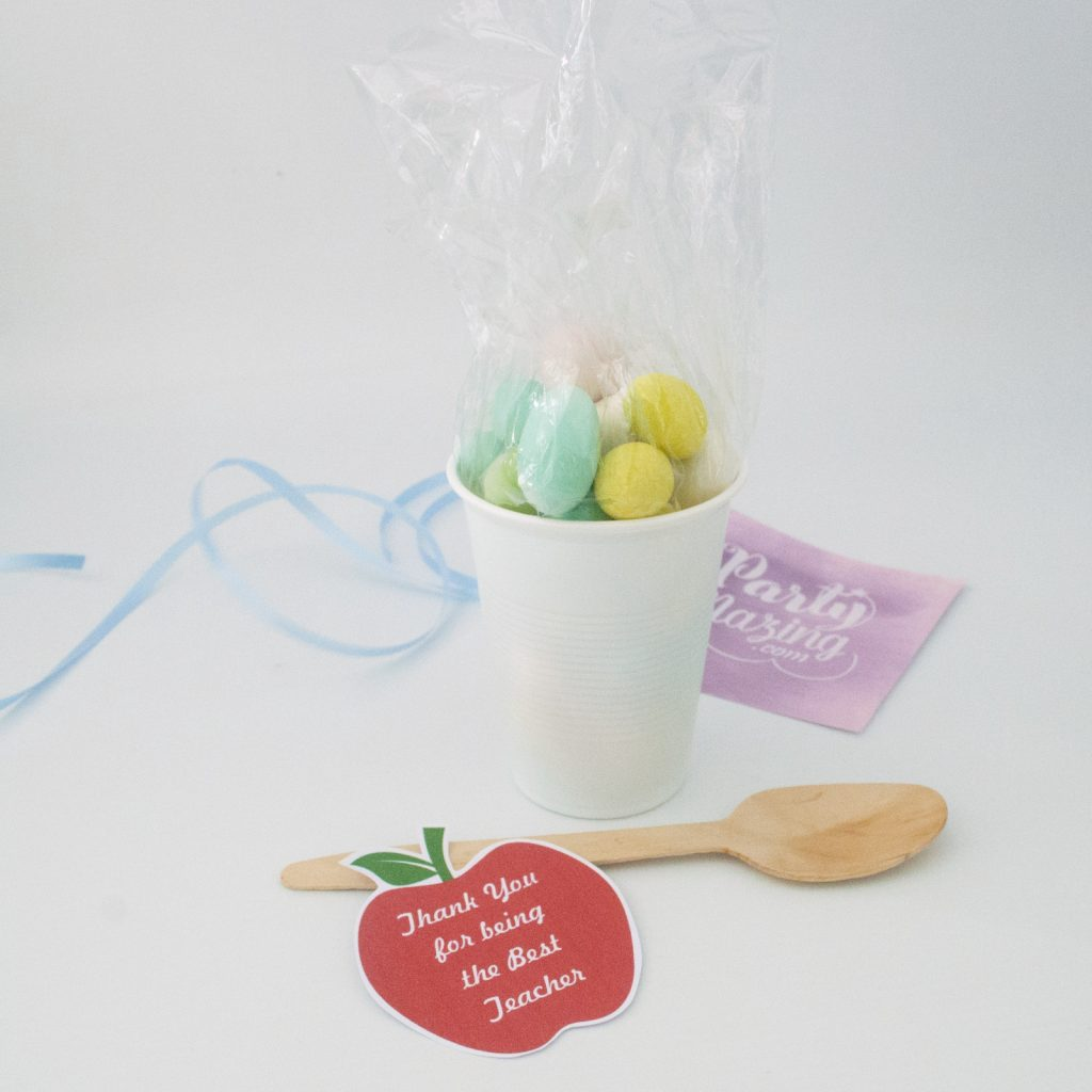 Easy DIY Teacher Gift using a Plastic Cup Tutorial