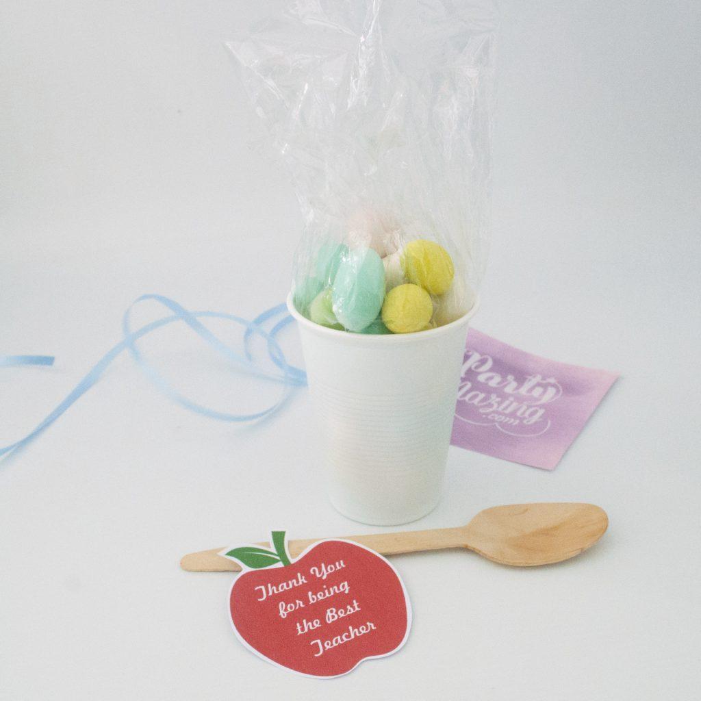 Easy DIY Teacher Gift using a Plastic Cup Tutorial