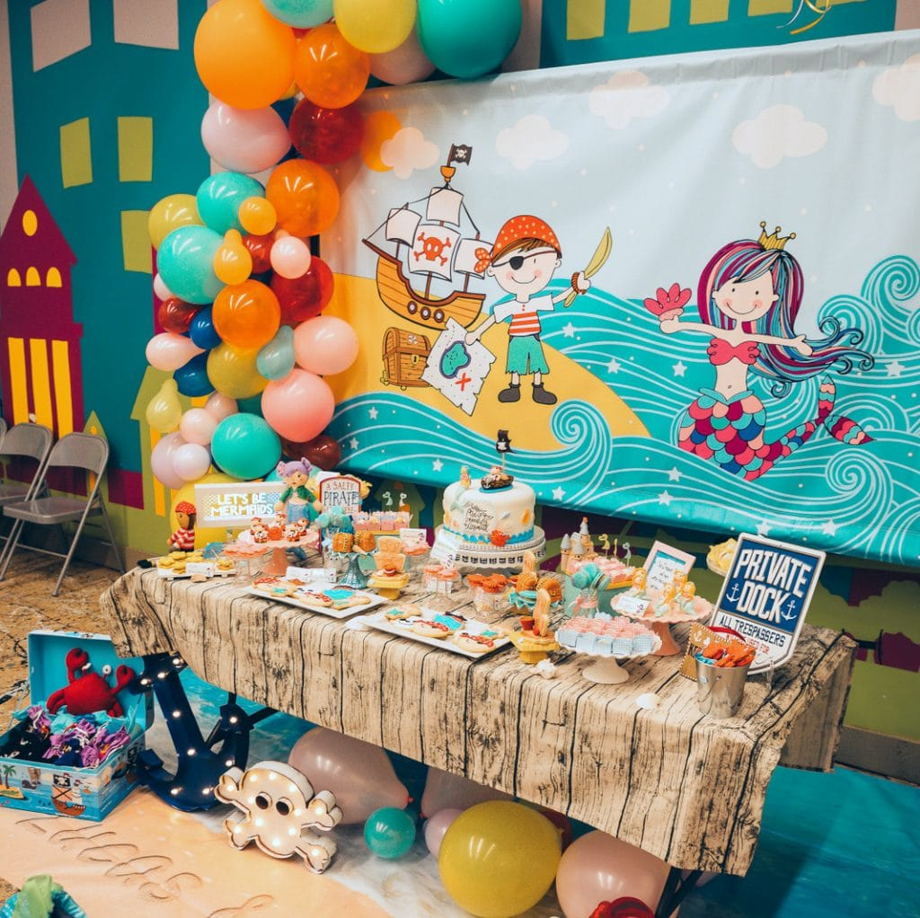 Mermaid Pirate Party Ideas Twins Birthday Party