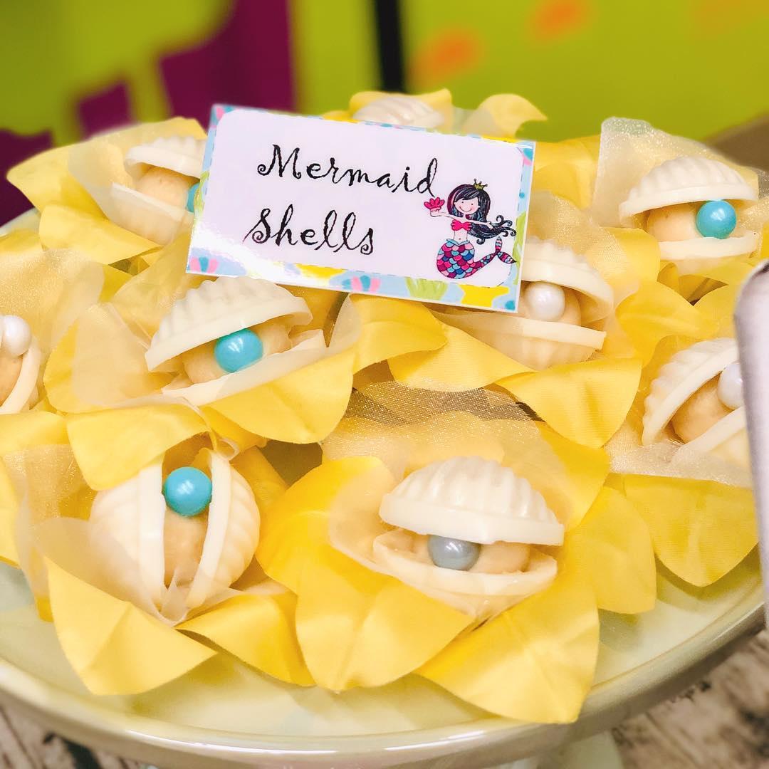 mermaid shells - - Kids Pirate Party Ideas