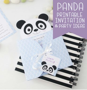 Printable Panda Invitations & Party Ideas – How to craft & assemble