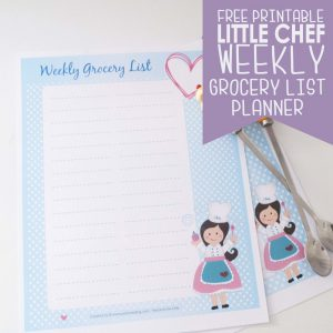 Free Printable Grocery list Planner F001