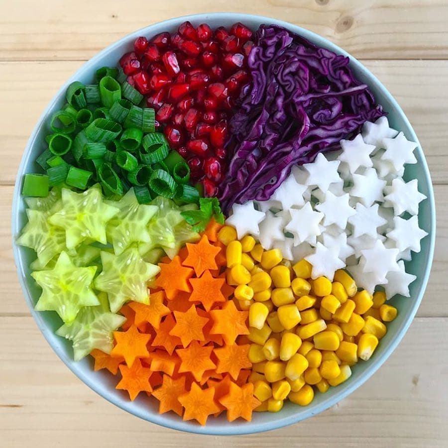 eat the rainbow, colorful food plate of veggies, Colorful Healthy Food Ideas and Tips for Your Party Table by Partymazing