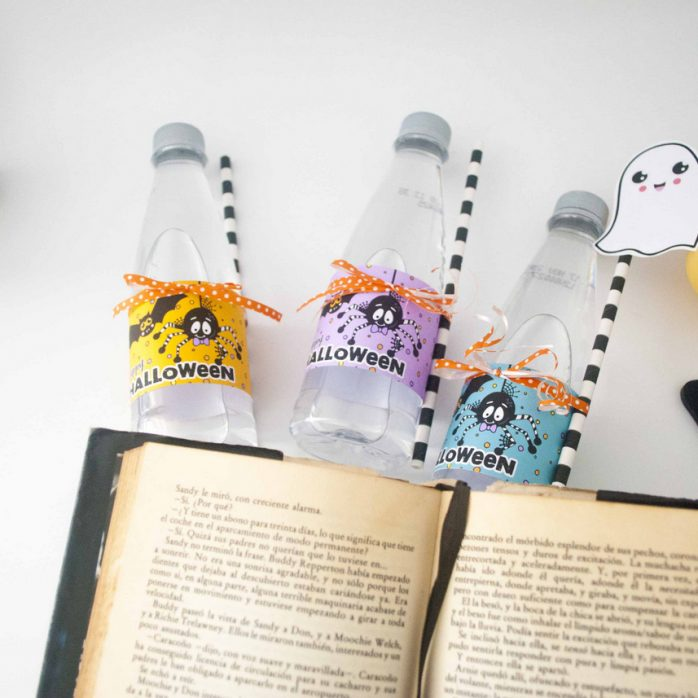 Free Spider and Bat Halloween Water Bottle Labels by Partymazing and ThePartyKitShop (5)