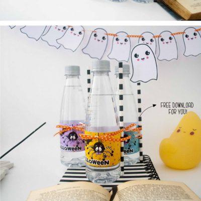Free Happy Halloween Printable Water Bottle Labels F002