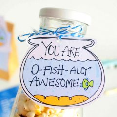 Hand-Drawn Printable You are O-Fishally Awesome Gift Tag | E256
