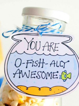 O-Fishally Awesome Printable Gift Tag