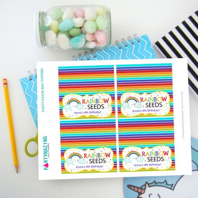 Editable You are a Rainbow of Possibilities Bag Topper | PK12 | E301