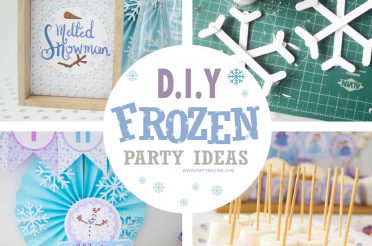 Easy D.I.Y Winter Frozen Birthday Party Ideas & Crafts -Free Printables