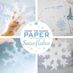 Printable Guide: How To Make A Paper Snowflake F018