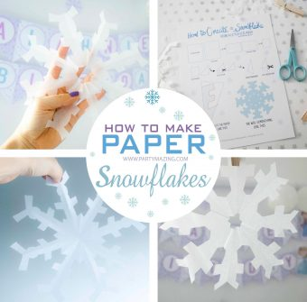 DIY How to make Paper Snowflakes [ Free Printable Guide ]