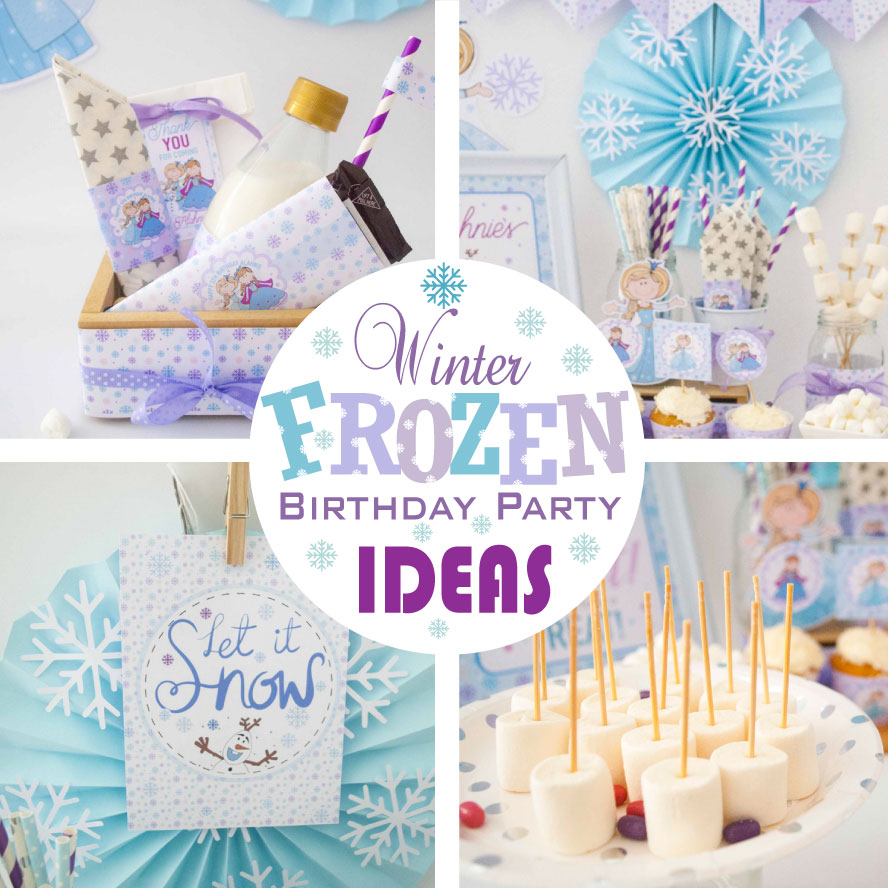 Winter Frozen Birthday Party Ideas + Party Collection