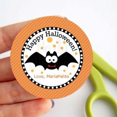 Editable Printable Happy Halloween Gift Tag, Cute Kids Editable Printable Favor Tag E190