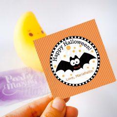Editable Printable Happy Halloween Gift Tag, Cute Kids Editable Printable Favor Tag E190