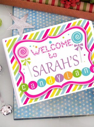 CandyLand Printable Welcome Party Sign E076