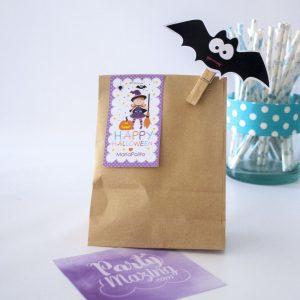 Editable Little Witch Happy Halloween Treat Bag Tag | PK20 |E202