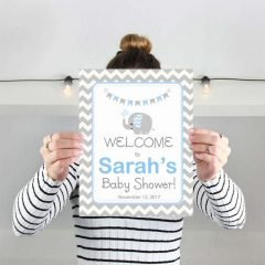 Blue Elephant Welcome Party sign | Printable Sign | Baby Shower | PK03 | E067