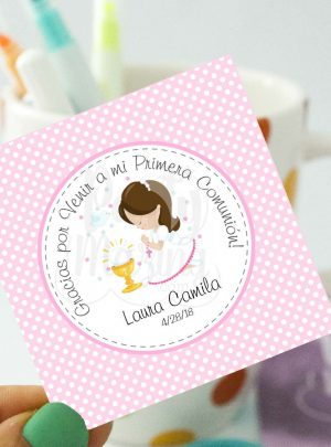 Girl First Communion Printable Gift Tag | E101
