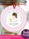 Editable Girl First Communion Printable Gift Tag | E101