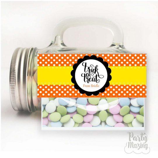 Editable Halloween Bag Toppers | Printable Treat Bag Tags | Party Favor Bag Topper | HOHW1 | E207