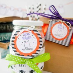 Editable Printable Happy Halloween Gift Tag or Sticker for your Candy Bags | Editable Tag| E206