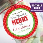 Editable Have a Merry Little Christmas Favor Gift Tag | E276