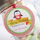 Editable Penguin Merry Christmas & Happy New Year Gift Tag for your Kids Gifts   E311