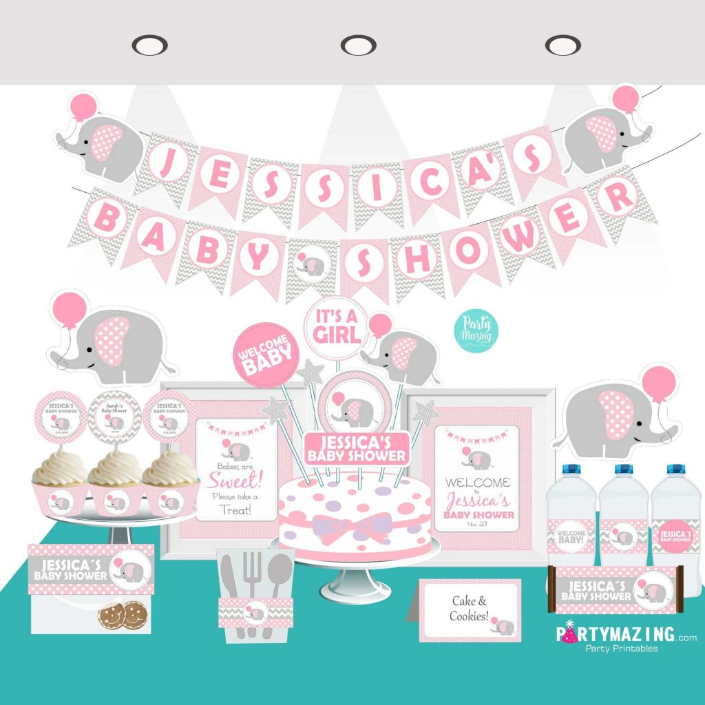 Pink And Grey Elephant Baby Shower Ideas Party Collection Partymazing,Modern Victorian Era Furniture