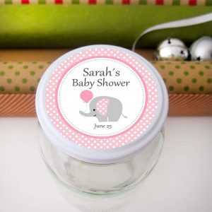 Editable Pink Elephant Tags | Baby Shower Tags | Editable Gift Tag| Custom Favor Tags | Favor Bag Tags |  | E163