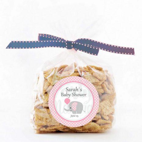 Editable Pink Elephant Tags   Baby Shower Tags   Editable Gift Tag  Custom Favor Tags   Favor Bag Tags      E163