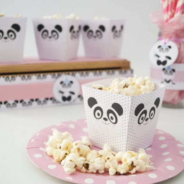 Editable  Pink Panda Birthday or Baby Shower Party Full Package Set Including Svg Cut files   E179