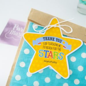 Editable Reach the Star School Gift Tag| Shaped Star| Teacher Appreciation Tag | End of school Tag | E187