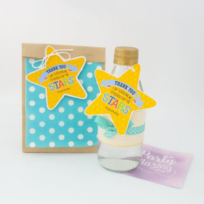 Editable Reach the Star School Gift Tag| Shaped Star| Teacher Appreciation Tag | End of school Tag | E187