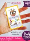 Editable Smart Cookie Teacher Tag | Editable Rectangle Tag | E111
