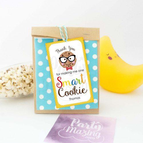 Editable Smart Cookie Teacher Tag | Editable Rectangle Tag | E111