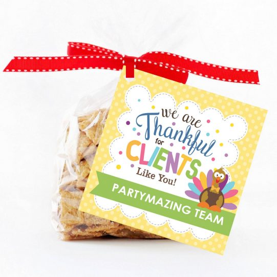 Editable Thankful For Clients Like You Gift Tag Label for Etsy Sellers and Small Business Owners | Editable Tag | E266