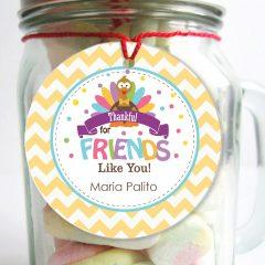 Editable Thankful for You Printable Gift Tags | E278