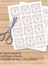 Editable Unicorn Tags | Stickers | Thank You Party Favor Tag | Cupcake Toppers  E143