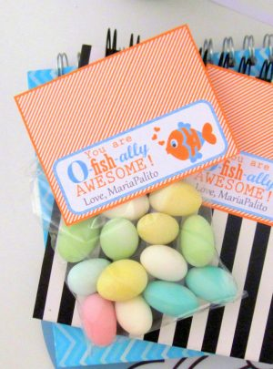 Printable Thank You Bag Topper | You are O-Fish-ally Awesome Candy Bags| PK02 | E133