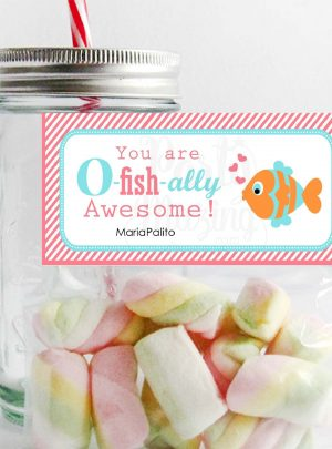 O-Fish-ally Awesome Printable Thank You Bag Topper E147